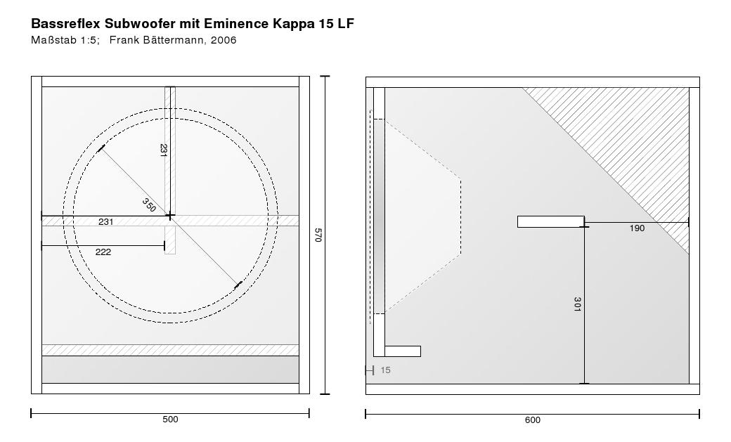 Turbo Bassreflex-Subwoofer (Eminence Kappa 15 LF) | MB08