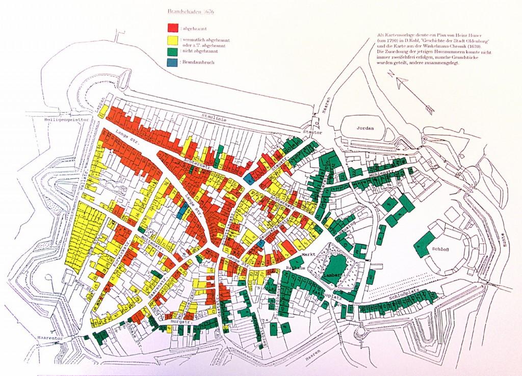 Der große Oldenburger Stadtbrand von 1676 aus: G. Wachtendorf, Das göttliche Rachfeuer..., 1992