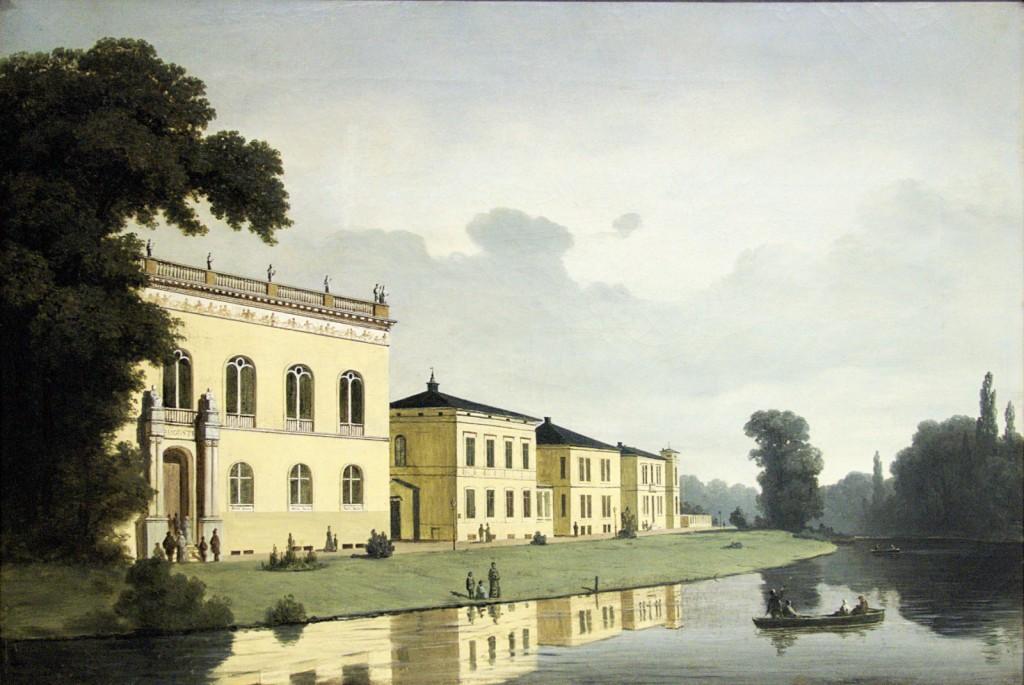 Elisabethstraße mit dem Augusteum, um 1870; Heinrich Schilking (1815-1895)