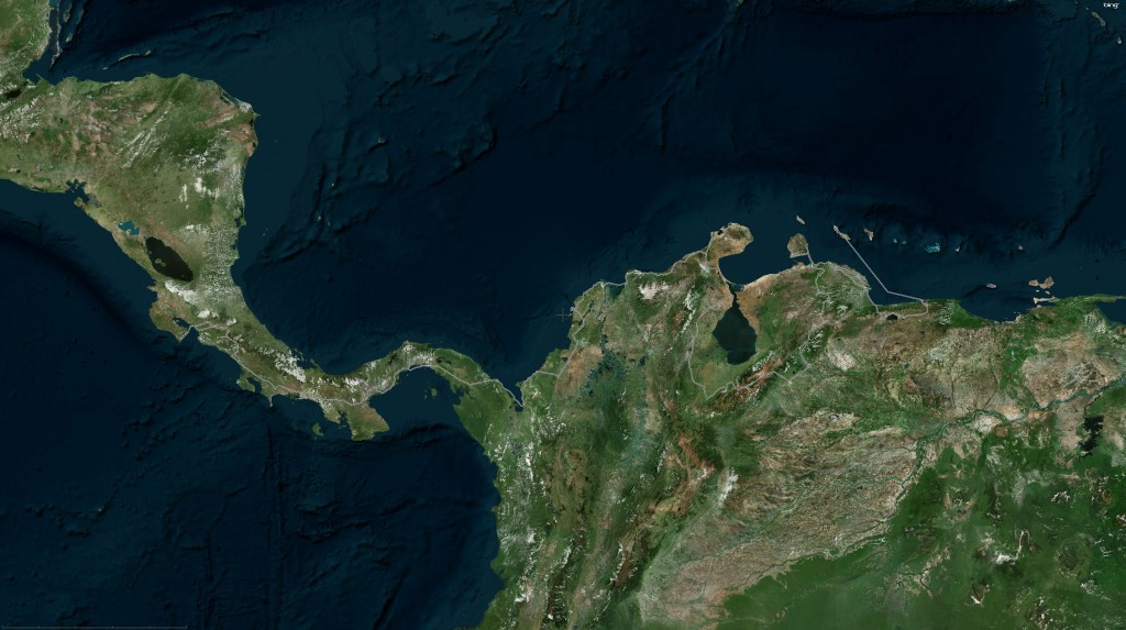 Reiseroute auf Satellitenbild