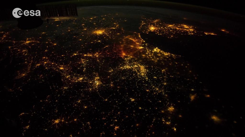 Mitteleuropa bei Nacht von der ISS