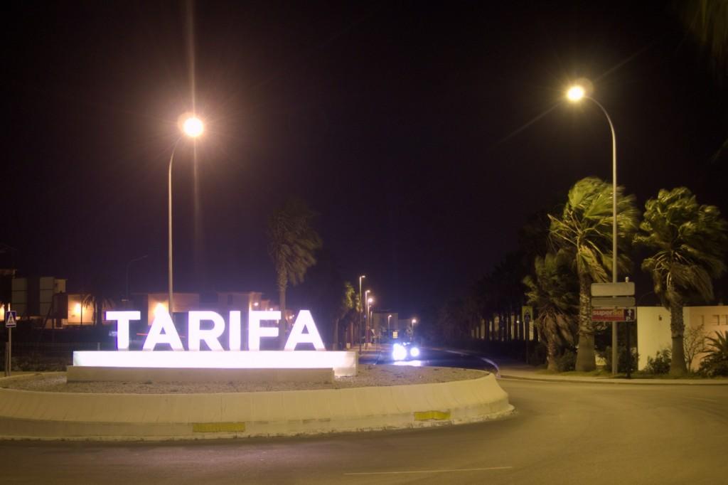 Tarifa - der Kreisel von Nordosten aus
