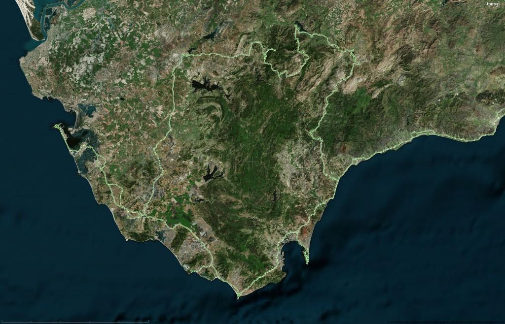 GPS track Tarifa (aerial)