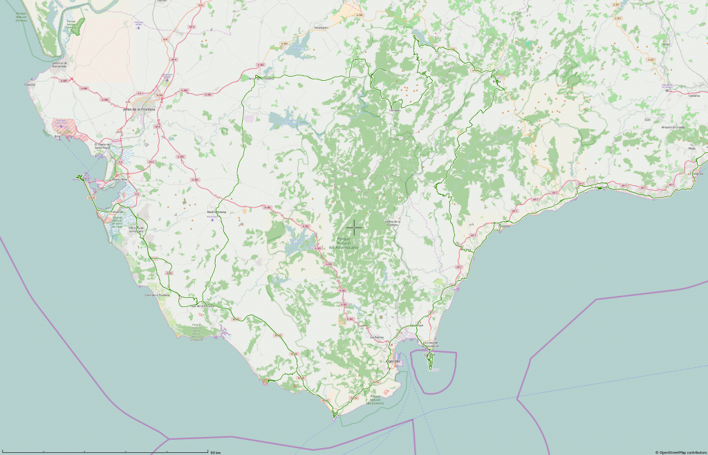 GPS track Tarifa (mapnik)